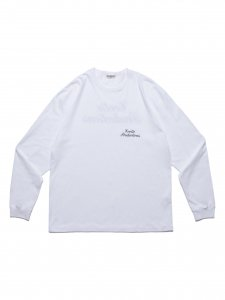 【残り1点】COOTIE (クーティー) Print L/S Tee(プリント長袖TEE) White