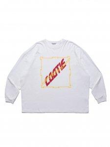 COOTIE (クーティー) Print Oversized L/S Tee(プリントオーバーサイズ長袖TEE) White