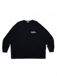 COOTIE (クーティー) Print Oversized L/S Tee(プリントオーバーサイズ長袖TEE) Black