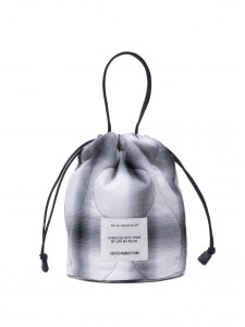 COOTIE (クーティー) Ombre Check Quilting Drawstring Bag(ドローストリングバッグ) Off White×Black