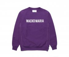 【残り1点】WACKO MARIA (ワコマリア) HEAVY WEIGHT CREW NECK SWEAT SHIRT (TYPE-2) (ヘビーウェイトクルーネックスウェット) PURPLE