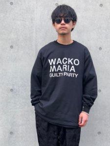 WACKO MARIA (ワコマリア) CREW NECK LONG SLEEVE T-SHIRT (TYPE-1) (クルーネックロングスリーブTEE) BLACK