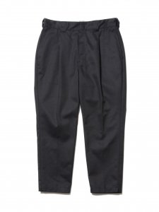 COOTIE (クーティー) T/C 1 Tuck Trousers (ワンタックトラウザー) Black