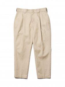 【残り1点】COOTIE (クーティー) T/C 1 Tuck Trousers (ワンタックトラウザー) Beige