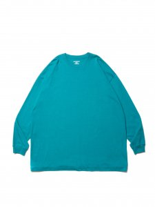 COOTIE (クーティー) Open End Yarn Error Fit L/S Tee (ビックシルエット長袖TEE) Turquoise