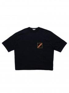 COOTIE (クーティー) Print Oversized S/S Tee (プリントオーバーサイズ半袖TEE) Black