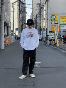 TONY TAIZSUN (トニータイズサン) Point break Is tee (プリント長袖TEE) WHITE