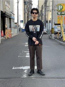 【残り1点】TONY TAIZSUN (トニータイズサン) Point break Is tee (プリント長袖TEE) BLACK