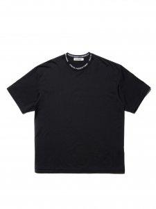 【残り1点】COOTIE (クーティー) Supima Cotton Jacquard Neck S/S Tee (スーピマコットンジャガードネック半袖TEE) Black