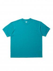 【残り1点】COOTIE (クーティー) Open End Yarn Error Fit S/S Tee (ビックシルエット半袖TEE) Turquoise