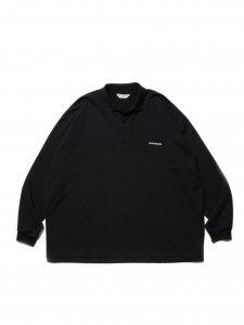 COOTIE (クーティー) Supima Cotton Sweat L/S Polo (スーピマコットンスウェット長袖ポロシャツ) Black