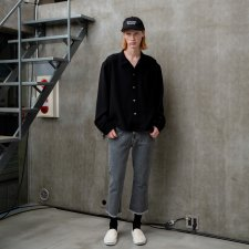 ANASOLULE (アナソルール) Relaxing L/S Shirt(リラクシングシャツ) Black