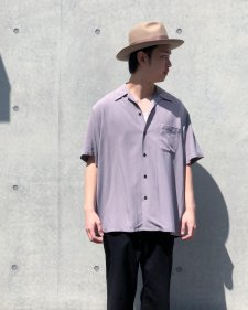 WACKO MARIA (ワコマリア) CHECK OPEN COLLAR SHIRT S/S (TYPE-2) (チェックオープンカラー半袖シャツ) PURPLE