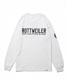 ROTTWEILER (ロットワイラー) CLASSIC.LO. L/S TEE (プリント長袖T) WHITE