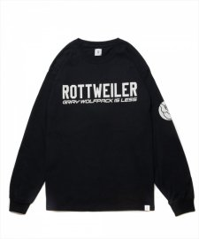 ROTTWEILER (ロットワイラー) CLASSIC.LO. L/S TEE (プリント長袖T) BLACK