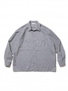 【残り1点】COOTIE (クーティー) T/W Work L/S Shirt (T/Wワーク長袖シャツ) Ash Gray