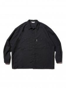COOTIE (クーティー) T/W Work L/S Shirt (T/Wワーク長袖シャツ) Black