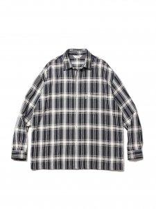 COOTIE (クーティー) Jacquard Check L/S Shirt (ジャガードチェック長袖シャツ) Black