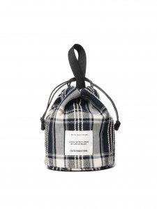COOTIE (クーティー) Jacquard Check Drawstring Bag (ジャガードチェックバック) Black