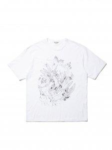 【残り1点】COOTIE (クーティー) Print S/S Tee (HEAVEN) (プリント半袖TEE) White