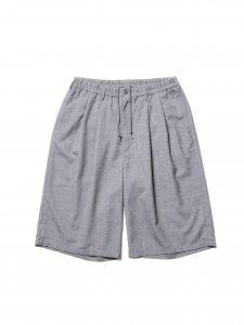COOTIE (クーティー) T/W 2 Tuck Easy Shorts (T/Wツータックイージーショーツ) Ash Gray