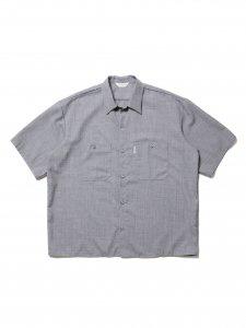 COOTIE (クーティー) T/W Work S/S Shirt (T/Wワーク半袖シャツ) Ash Gray