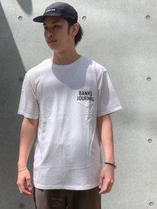 BANKS (バンクス) SHORES TEE (プリント半袖TEE) WHITE