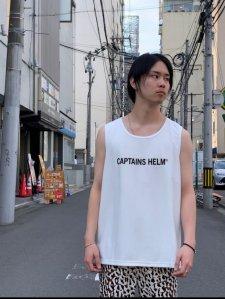 CAPTAINS HELM (キャプテンズヘルム) #TM-LOGO DOUBLE MESH TANK TOP (メッシュタンクトップ) WHITE