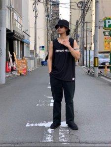 CAPTAINS HELM (キャプテンズヘルム) #TM-LOGO DOUBLE MESH TANK TOP (メッシュタンクトップ) BLACK