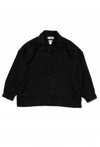 DELUXE (デラックス) DELUXE×EVISEN CAMELLIA SHIRTS (刺繍プルオーバー長袖シャツ) BLACK