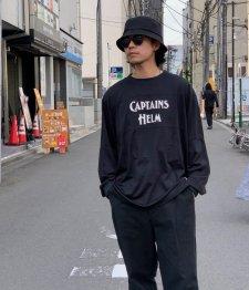 CAPTAINS HELM (キャプテンズヘルム) #LOGO MESH L/S TEE (ロゴメッシュ長袖TEE) BLACK