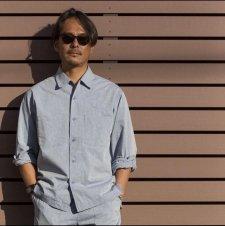 【30%OFF】TONY TAIZSUN (トニータイズサン) Plastic free shirts(リサイクルポリエステルシャツ) SAX