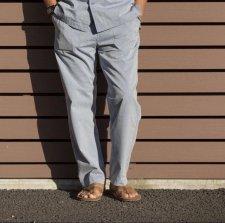 【30%OFF】TONY TAIZSUN (トニータイズサン) Plastic free pants(リサイクルポリエステルパンツ) SAX