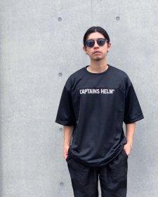 CAPTAINS HELM (キャプテンズヘルム) #TM-LOGO DOUBLE MESH FBT(ダブルメッシュフットボールTEE) BLACK