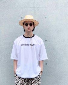 CAPTAINS HELM (キャプテンズヘルム) #TM-LOGO DOUBLE MESH FBT(ダブルメッシュフットボールTEE) WHITE