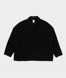DELUXE (デラックス) BRONCO (ウエスタンプルオーバー長袖シャツ) BLACK