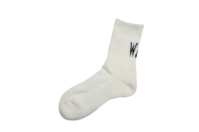 WAX (ワックス) Mid length socks (ソックス) WHITE