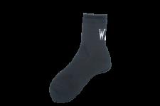 WAX (ワックス) Mid length socks (ソックス) BLACK