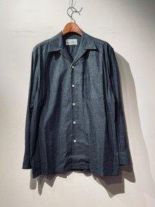 WACKOMARIA(ワコマリア) 50'S SHIRT L/S ( TYPE-1 )(50'S長袖シャツ) CHARCOAL