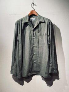 WACKOMARIA(ワコマリア) 50'S SHIRT L/S ( TYPE-1 )(50'S長袖シャツ) KHAKI