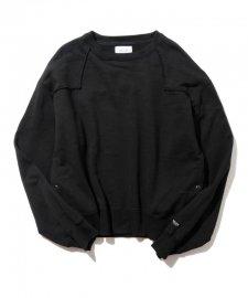 DELUXE (デラックス) WILSON(ウエスタン刺繍クルーネックスウェット) BLACK