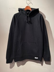 WACKO MARIA (ワコマリア) WASHED HEAVY WEIGHT PULLOVER HOODED SWEAT SHIRT (TYPE-1) (ウォッシュドヘビーパーカー) BLACK