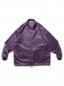 【残り1点】COOTIE (クーティー) R/C Satin Coach Jacket (R/Cサテンコーチジャケット) Purple