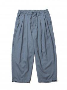 COOTIE (クーティー) T/W 2 Tuck Easy Ankle Pants (T/Wツータックイージーアンクルパンツ) Smoke Blue