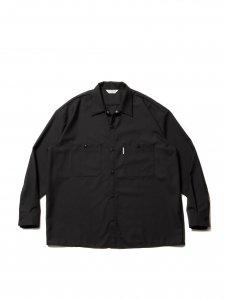 【残り1点】COOTIE (クーティー) T/W Work Shirt (T/Wワークシャツ) Black