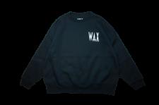 【残り1点】WAX (ワックス) wide body crew sweat (ワイドボディクルースウェット) BLACK