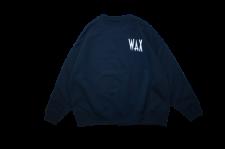 WAX (ワックス) wide body crew sweat (ワイドボディクルースウェット) NAVY