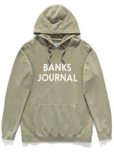 【残り1点】BANKS (バンクス) JOURNAL PARKA (プリントプルオーバーパーカー) SEED