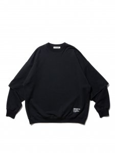 COOTIE (クーティー) Cellie Crewneck Sweatshirt (クルーネックスウェット) Black
