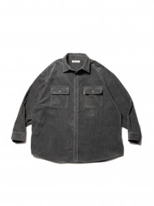 COOTIE (クーティー) Wide Corduroy CPO Jacket (ワイドコーデュロイCPOジャケット) Gray
